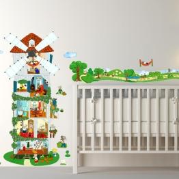Déco mignonne et campagne avec la famille souris. http://www.wallsweethome.fr/fr/stickers-enfant/stickers-chambre-enfants/stickers-souris-des-champs-kit-deco/
