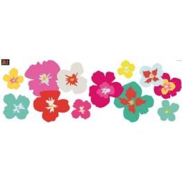 Stickers fleurs exotiques