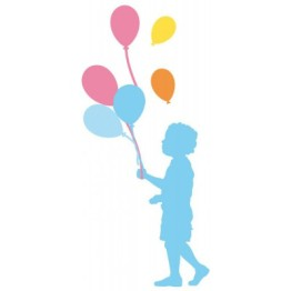 Stickers silhouette aux ballons