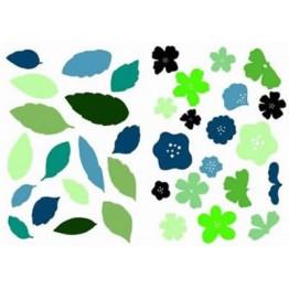 Envolée de fleurs et de feuilles