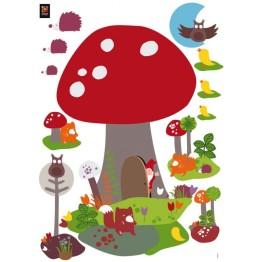 Stickers enfant lutin de la forêt