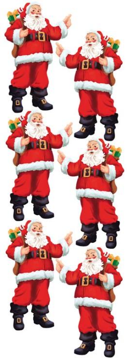 De jolis Père Noël joviaux et souriant pour une déco de Noël traditionnelle et solorée