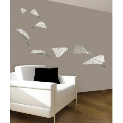 Avion en origami http://www.wallsweethome.fr/fr/stickers-enfant/stickers-chambre-enfants/grands-stickers-origami/