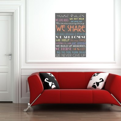 DIY House Rules http://www.wallsweethome.fr/fr/deco-personnalisee/poster-adhesif/