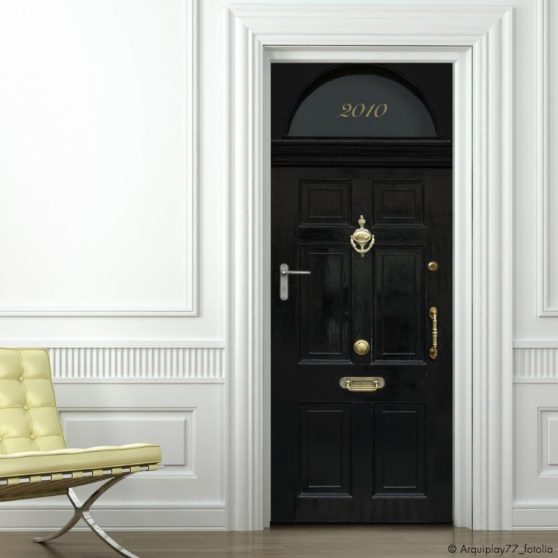 Wallpaper for doors London style