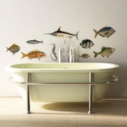 Adhésifs muraux poissons http://www.wallsweethome.fr/fr/stickers-muraux/stickers-animaux/sticker-mural-retour-de-peche/