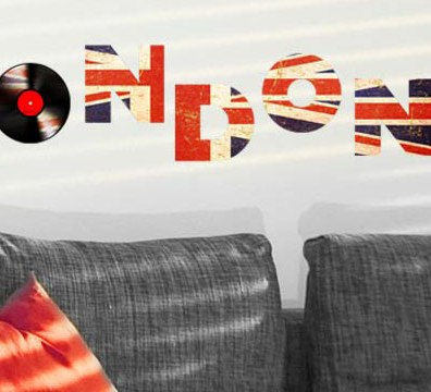 London adhesive letters