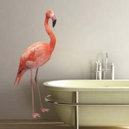 Adhésif géant de flamant rose http://www.wallsweethome.fr/fr/stickers-muraux/stickers-animaux/sticker-geant-le-flamant-rose/