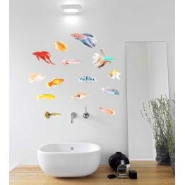 Adhésifs muraux de poissons tropicaux http://www.wallsweethome.fr/fr/stickers-muraux/stickers-mer/stickers-mer-poissons-exotiques/