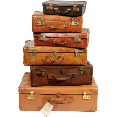 Décor mural pile de valise vintage