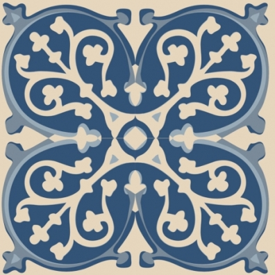 Fake cement tile wall decals