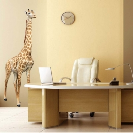 Adhésif géant de giraffe http://www.wallsweethome.fr/fr/stickers-muraux/stickers-animaux/sticker-animal-girafe-stickers-geant/