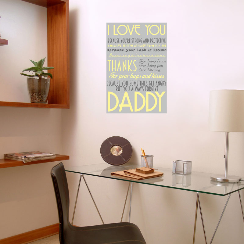 Personalised poster for dads