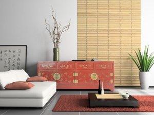 Idée-déco-salon-ambiance-zen-gris-blanc-rouge