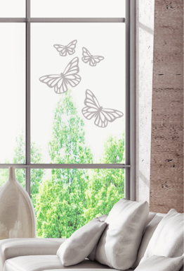 """Décorations de vitres : stickers effet dépoli """"Papillons"""""""