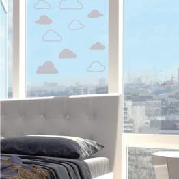 """Décorations de vitres : stickers effet dépoli """"Nuages"""""""