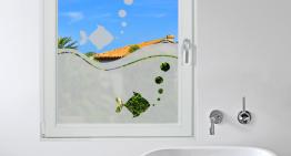 """Décor de fenêtres : stickers effet dépoli """"Aquarium"""""""