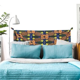 Tête de lit tissus africain wax - trompe-l'oeil pour tête de lit ethnique