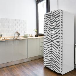 Décoration ethnique de la cuisine avec frigo wax motif zebré
