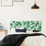 Décoration murale de tête de lit avec motif feuilles de bananier très urban jungle