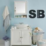 Décoration pour la salle de bain - Personnalisation de la salle de bain avec lettres adhésives