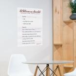 Décoration de cuisine avec un poster citation de recette de mousse au chocolat